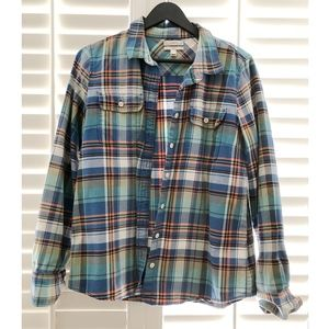 JCrew Boy Fit Multi-Colored Flannel